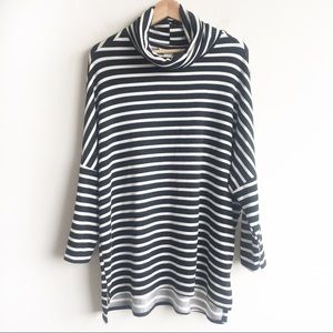 Calson Striped turtleneck sweater